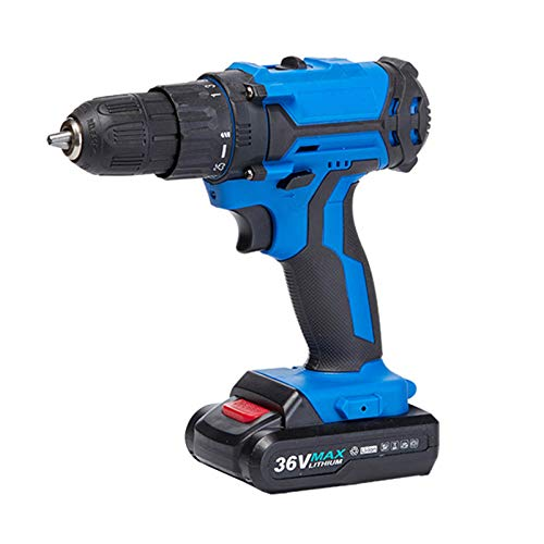 HOUSEHOLD Rechargeable electric drill electric screwdriver, brushless lithium electric drill, multi-function hand electric drill, mini impact screwdriver, built-in LED light, home/office
