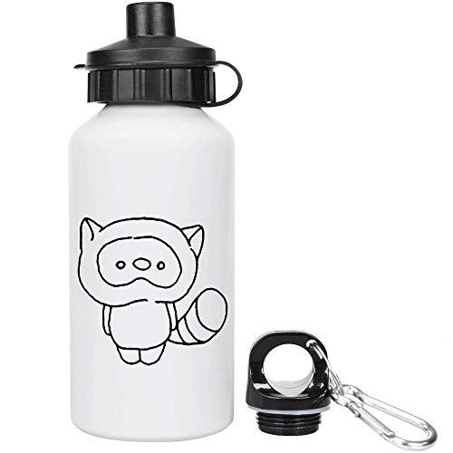 Azeeda 400ml 'Netter Waschbär' Kinder Trinkflasche / Wasser-Flasche (WT00020204)