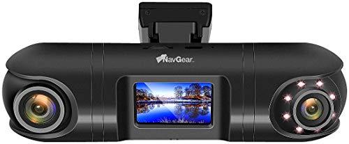 NavGear Dash Kamera: QHD-Dual-Dashcam mit 2 Kameras, G-Sensor, IR-Nachtsicht und GPS (Auto Überwachung)