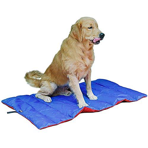 TFENG Isomatte für Hunde Camping und Backpacking Geeignet für die meisten Rassen Blau & Rot