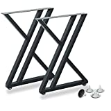 Metal Industrial Dining Modern Table Legs Desk Legs Base Cast Iron Welding Wrought Iron Coffee Table Bench Legs Night Stand Office Table 28 inch Triangle Shape Black DIY (1 Set of 2 pcs) 28'H x19.7'