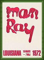 ポスター マン レイ 1972 額装品 ウッドベーシックフレーム(グリーン)