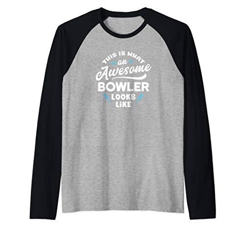 So sieht ein toller Bowler aus Lustiges Bowling Geschenk Fun Raglan