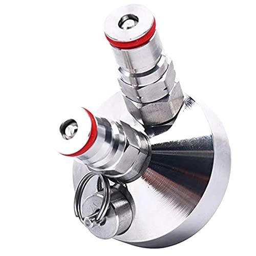 Mini dispensador de grifo de barril de bloqueo de bola para barril de cerveza Mini dispensador de acero inoxidable Accesorios de barra Dispensador resistente - Plata 78 X 55Mm