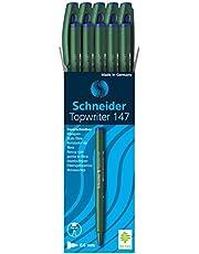 147 قلمًا من شنايدر توبرايتر: أزرق، 10 قطع وزن المنتج 118 جم، أبعاد العبوة: 1.6 × 2.4 × 1.5 إنش، وزن الشحن 118 جم، العلامة التجارية: الاسم شنايدر