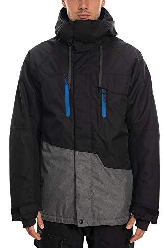 686 Men's Geo Insulated Jacket - Waterproof Ski/Snowboard Winter Coat, Sulphur Camo Colorblock, X-Large
