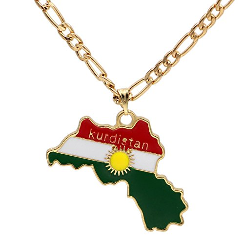 Kurdistan Premium Kette Kürt Karte Fahne Flagge Anhänger Halskette 18 K Vergoldet Anhänger Halskette 18 K Real vergoldet t shirt