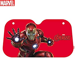 DIEMEI Marvel Avengers Windshield Sun Shade Foldable UV Protector Shields for Small Cars SUVs Trucks Keeps Your Vehicle Cool Car Windshield Sunshade (Iron Man)