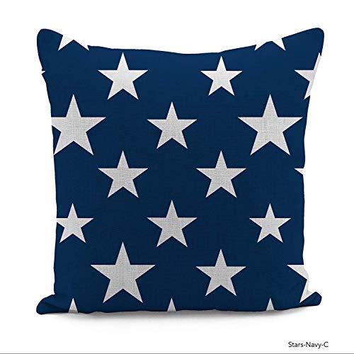 Jennifer Davidson Cushion Cover Stars Navy 3D Design Digital Print UK Made (12x12)