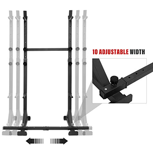 ER KANG Multi-Function Barbell Rack, 600LBS Capacity Dip Stand Home Gym Fitness Adjustable Squat Rack for Weight Lifting, Bench Press, Squat, Push Up, Dipping Station Home Gym Equipmen