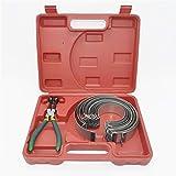 JIANEEXSQ Auto Piston Compressor Set Car Engine Piston Ring Compressor Pliers Set Repair Tools Kit
