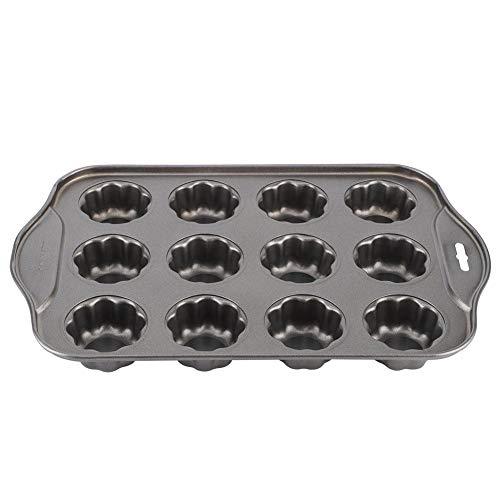 Fockety Käsekuchenform, abnehmbare 12 Tassen Mini-Kuchenformen, Kohlenstoffstahl für Home Cake Shop