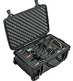 Case Club 8 Revolver/Semi-Auto Pre-Cut Waterproof Case with Accessory Pocket & Silica Gel to Help Prevent Gun Rust