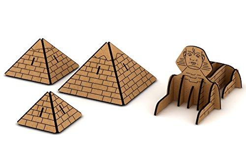 La Lluna Archi-Kraft, Kit para montar las Pirámides de Egipto, Juegos de construcción para manualidades, de madera DM de 2.5mm