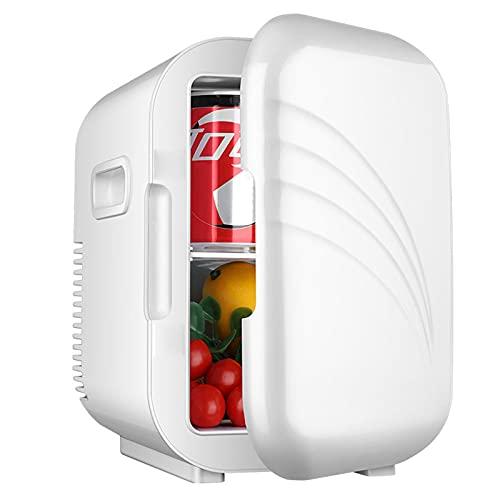 AIISHY Mini Nevera, 5 litros Nevera portatil electrica, para Dormitorio Oficina Coche Dormitorio, para el Cuidado de la Piel Almacenamiento de Maquillaje,Blanco