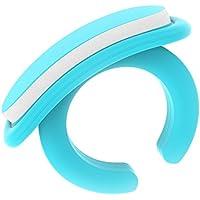 Bebon - Juego de cuidado de uñas para bebés, práctico juego de cuidado para recién nacidos a partir de 0 meses, idea de regalo para futuras madres, 18 limas desechables, color azul