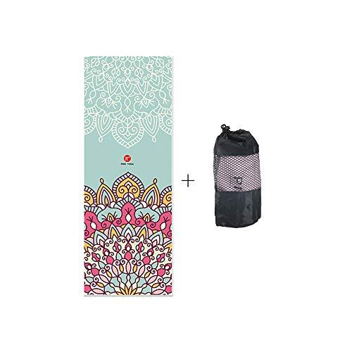 PIDO Hot yoga handdoek 2019 bijgewerkte versie exclusieve hoektas milieuvriendelijk bedrukte yogamat microvezeldoek geen antislip voor hot yoga bikram ashtanga en Pilates Free Carry Bag