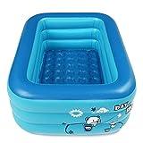 Piscina al aire libre 180 cm espesar piscina inflable rectángulo bebé niños bañera cuadrada 3 capas piscina verano agua diversión jugar juguete para interior exterior piscina fiesta