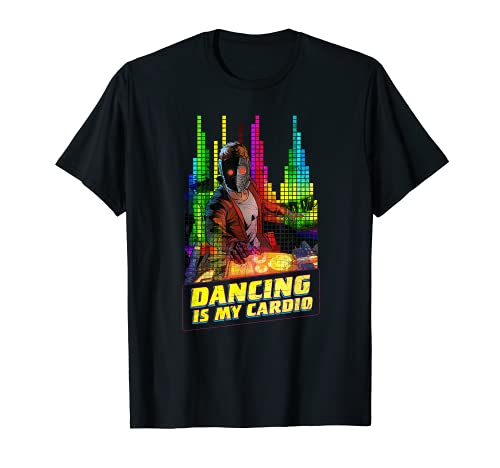 Marvel Star-Lord Peter Quill Dancing is My Cardio Camiseta ⭐