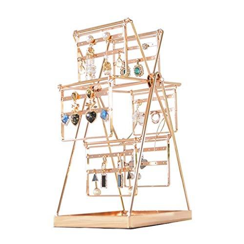 Joyero JUIO Caja de almacenamiento para joyas, diseño de princesa coreana creativa, estante para joyas, decoración del hogar para niñas, joyería de regalo, collar de pendientes, 30,5 x 12,4 x