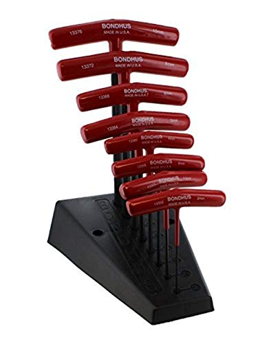 Bondhus 13389 Set of 8 Hex Thandles w/Stand sizes 210mm
