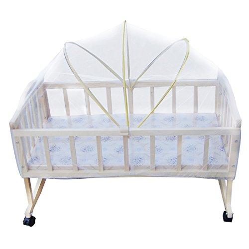 Demarkt Baby-Moskitonetz mit Kante Babybett-Zubehör Baby Moskitonetz zum Pack Laufgitter Kinderwagen Krippen Insekt Mesh-Netz Schlafen Bett Zubehör mit Insektenschutz für Baby Kinder 90X50cm