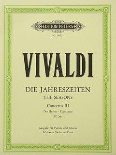 4 JAHRESZEITEN 3 HERBST - arrangiert für Violine - Klavier [Noten / Sheetmusic] Komponist: VIVALDI ANTONIO