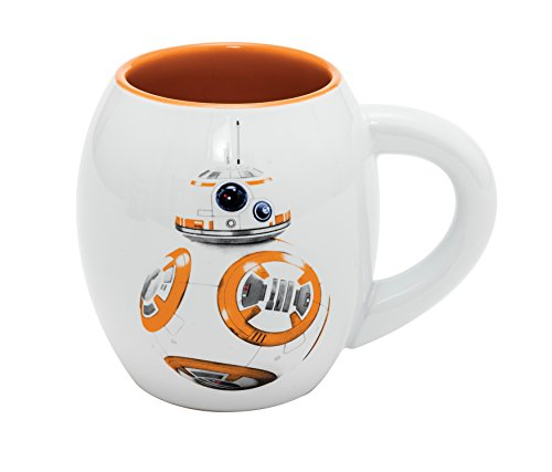 Star Wars BB-8 - Taza Oval de cerámica en Paquete Regalo 11 cm (500 ml)