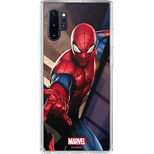Skinit Clear Phone Case for Galaxy Note 10 Plus - Officially Licensed Marvel/Disney Spider-Man in City Design