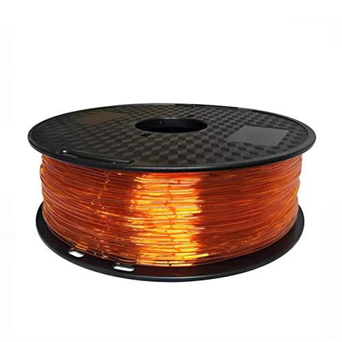 Elastic Flexible TPU 3D Drucker Filament 1,75mm 85A Gummimaterial Roll Flex 500g 250g Rot Schwarz Blaues Filament für 3D-Druck (Color : 4B Orange 250g)