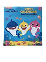 2021 Baby Shark 12ヶ月壁掛けカレンダー