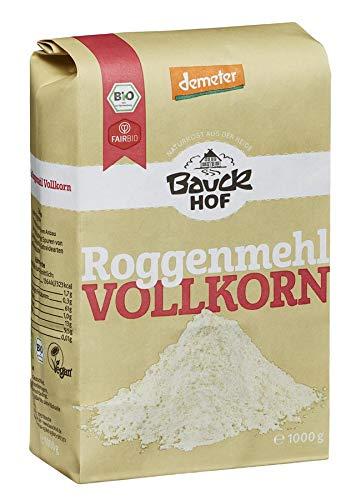 Bauckhof Bio Bauck Lichtkorn Roggenmehl Vollkorn (2 x 1000 gr)