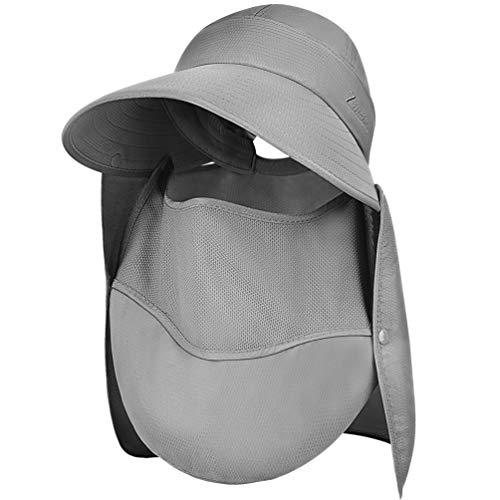 VBIGER Sun Visor Hats Women Wide Brim Summer Hat Golf Hats for Women UV 50 Foldable Packable Sun Cap Grey