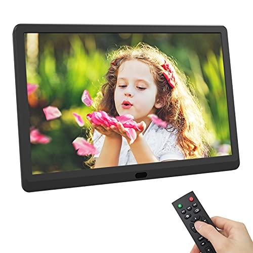 Digitaler Bilderrahmen 10 Zoll, 1920 x 1080 IPS Bildschirm, EastPoint Elektronischer Bilderrahmen mit Fernbedienung, Unterstützt bis zu 128GB SD-Karte, Freunde/Familie, Schwarz