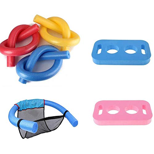 Towinle Schwimmnudel Schwimmender Stuhl Poolnudel-Verbinder Set PE-Schaum Schwimmhilfe Kinder Erwachsene Cool Badespielzeuge (Poolnudel Set)