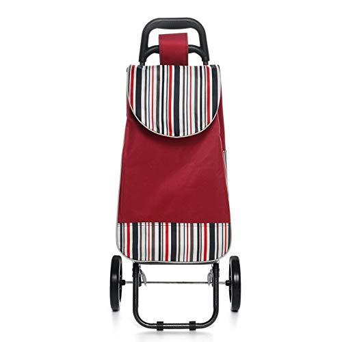 Nett Gute Stabilität Trolley, Aluminiumlegierung beweglicher Trolley Cart Trolley Multi-Funktions-Rollen-Trolley Wagen for ältere Menschen, for Outdoor Geschenk (Color : Red)