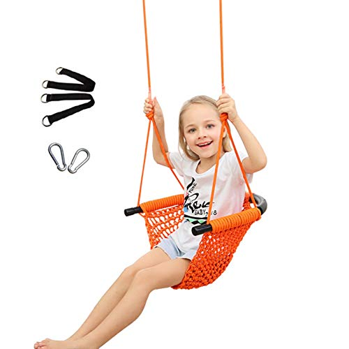 Swing Seat with 200CM Adjustable Rope, Oxford Fabric Tree Swing Hexagon Shape, Holds up to 150kg Hanging Chair for Kids and Adults