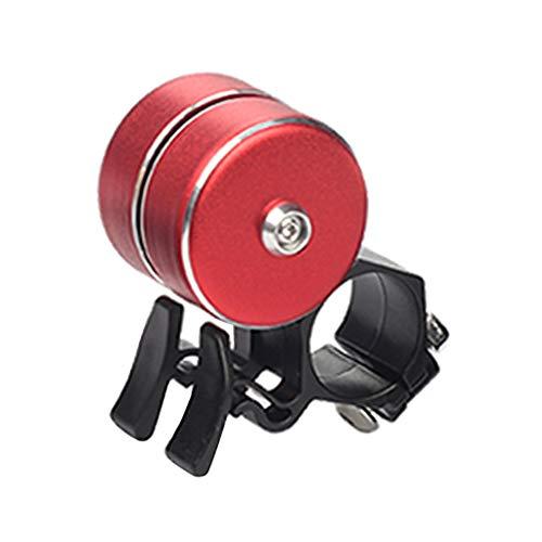 HomeDecTime MTB Road Bell Manillar Alarma Bocina 120 DB Bocina Bocina - Rojo, 70mm