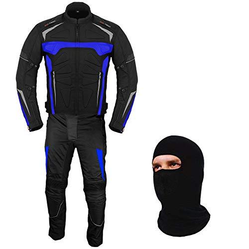 Motorfiets Pak - Motorfiets Armor Bike Rider 2-delige Racing Waterdichte Sport Pak Alle Weer Het dragen van CE Armour Voor Heren Jongens 46 Chest/40 Waist - 32 Leg Blauw
