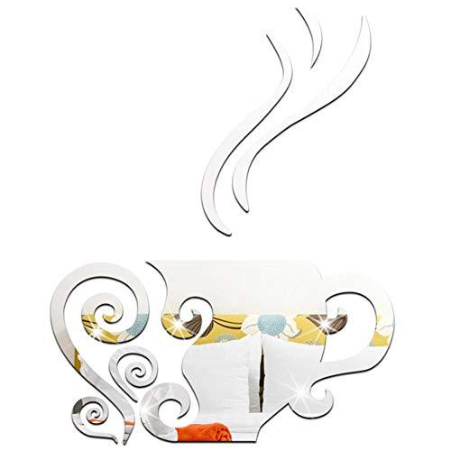 WXXW 8 Piezas de Armarios con Espejo de Taza de Café de Espejos Acrilicos de