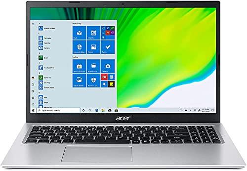 Acer Aspire 1 15.6' FHD Laptop Computer, Intel Celeron N4500 up to 2.8GHz, 4GB DDR4 RAM, 128GB eMMC, AC WiFi, Bluetooth 5.0, HDMI, Pure Silver, 1 Year Microsoft 365, Windows 10 S