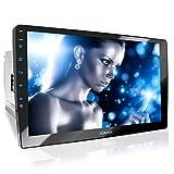 XOMAX XM-2V1004 Autoradio con Schermo Touch Screen XXL regolabile (10' / 25 cm) I Mirrorlink I Bluetooth I Porte per microfono esterno e telecamera per la visione posteriore I RDS I USB I 2 DIN
