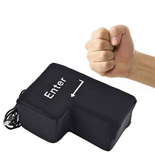 Gutsbox Big Enter Taste Key Kissen Knopf Office Schaum Nickerchen Kissen Anti Stress Relief Größe Vent Werkzeuge mit Unbreakable USB Dekompression