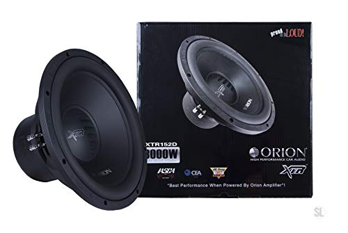 "ORION XTR SERIES XTR152D 15"" SUBWOOFER 3000 WATTS MAX MUSIC POWER DUAL VOICE COIL 2 OHMS CAR AUDIO CAR STEREO WOOFER"