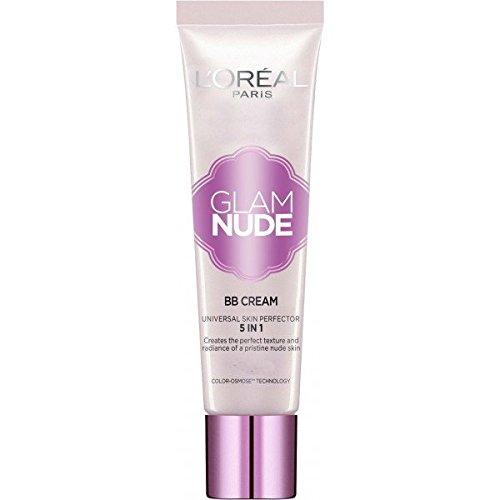 L'Oréal Paris - Glam Nude BB Cream Peau Claire à Médium Perfectrice de Teint 5 en 1