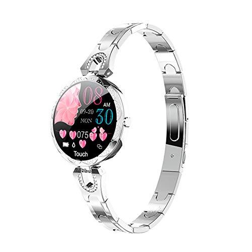 Reloj Inteligente De Las Señoras De La Moda AK15, Ritmo Cardíaco Impermeable Y Monitoreo De La Presión Arterial Pulsera De Regalo De Las Señoras Smartwatch para Android iOS,C