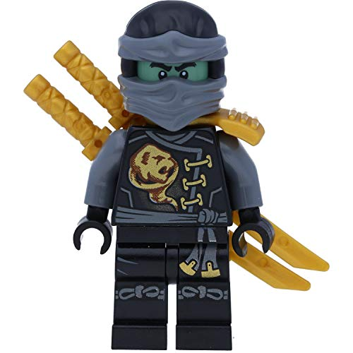 LEGO Ninjago: Minifigur Cole als Geist Skybound mit GALAXYARMS Doppelklingenschwert
