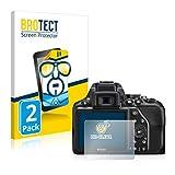 brotect Pellicola Protettiva Compatibile con Nikon D3500 Pellicola Trasparente (2 Pezzi) Anti-Impronte