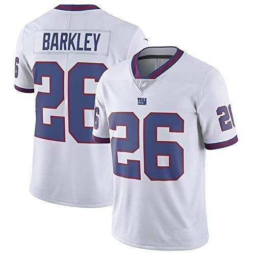 LXIN Uniforme de Rugby New York Giants 26# Barkley Ropa Media Manga...