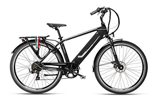 """Armony Monza, Bicicletta Elettrica Unisex Adulto, Nero, 28\"""""""